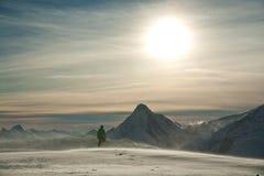 верхняя часть альпиниста Стоковые Фото