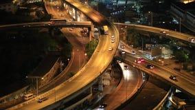 Верхняя часть БАНГКОКА /THAILAND-May 15, скоростной дороги Бангкока и шоссе соперничает видеоматериал