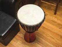Верхняя часть барабанчика Djembe Стоковые Изображения