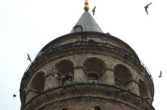 Верхняя часть башни Galata Стоковое Изображение RF