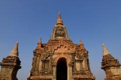 Верхняя часть буддийского виска в Bagan, Мьянме Стоковые Фотографии RF