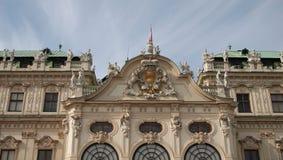 Верхняя часть дворца бельведера Стоковое Фото