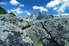 Верхняя часть высокого Tatras в предпосылке Стоковое Фото