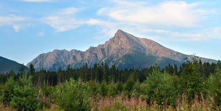 Верхняя часть высокого Tatras Стоковое Изображение RF