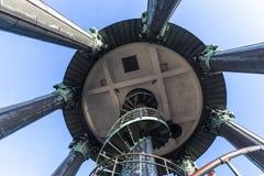 Верхняя часть Гамбург Германия башни просмотра церков michaelis St стоковое фото