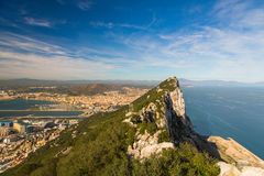 Верхняя часть Гибралтара утеса Стоковые Изображения RF