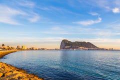 Верхняя часть Гибралтара утеса Стоковое Фото