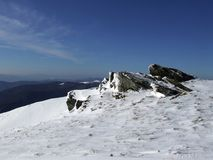 верхняя часть горы валунов Стоковая Фотография RF