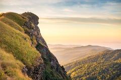 Верхняя часть горы в Monjong, Чиангмае Стоковые Изображения RF