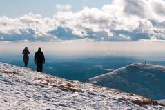 верхняя часть горы пар Стоковая Фотография RF