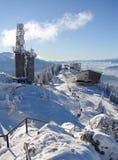 верхняя часть горы снежная Стоковое Изображение
