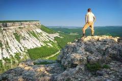 верхняя часть горы человека схематической конструкции Стоковые Изображения RF