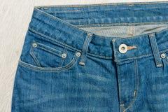 Верхняя часть джинсов, конец-вверх Стоковое Изображение