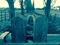 Верхняя часть деревянного строба Стоковые Изображения RF