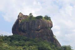 Верхняя часть держателя Sigiriya, старых руин королевского дворца Sri Lanka Стоковое Изображение