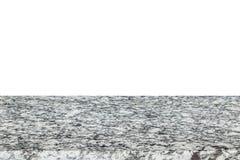 Верхняя часть естественных каменных таблицы или счетчика изолированных на белизне Стоковое Изображение