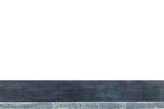 Верхняя часть естественных каменных таблицы или счетчика изолированных на белизне Стоковое Изображение RF