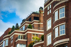 Верхняя часть жилого дома в Бостоне, Массачусетсе Стоковые Изображения