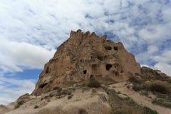 Верхняя часть замка Uchhisar в Cappadocia Стоковая Фотография