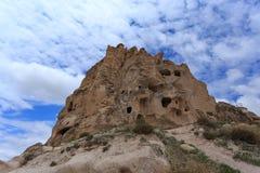 Верхняя часть замка Uchhisar в Cappadocia Стоковые Изображения RF