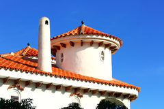 Верхняя часть испанской крыши типа в Alcossebre Стоковое Изображение RF