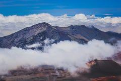 Верхняя часть кратера Haleakala Стоковое фото RF