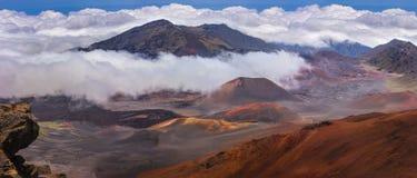 Верхняя часть кратера Haleakala Стоковая Фотография RF