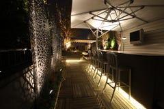 Верхняя часть крыши ночи Стоковая Фотография RF