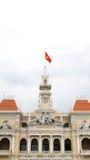 Верхняя часть крыши, ратуша Хошимина, Вьетнам Стоковая Фотография RF