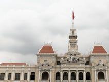 Верхняя часть крыши, ратуша Хошимина, Вьетнам Стоковые Фото