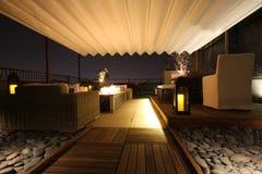 Верхняя часть крыши Nightime Стоковое Изображение RF