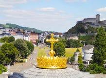 Верхняя часть купола Лурда - Франция стоковая фотография rf