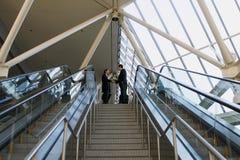 верхняя часть лестниц запечатывания дела стоковое изображение rf