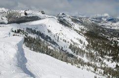 верхняя часть лыжи курорта горы стоковые изображения