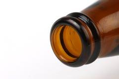 верхняя часть макроса бутылки пива Стоковое фото RF