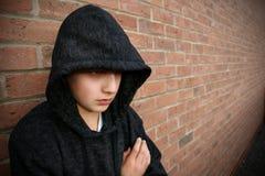 верхняя часть мальчика с капюшоном Стоковое Изображение
