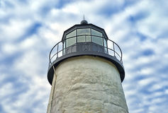 Верхняя часть маяка Мейна пункта Pemaquid Стоковое Фото