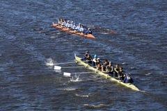 Верхняя часть дна OKC Riversport Далласа объединенная участвует в гонке в голове молодости 8 ` s людей регаты Чарльза Стоковые Изображения