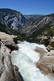 Верхняя часть падения Невады, Yosemite, Калифорния, США Стоковые Изображения RF