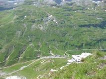 Верхняя часть перевала Klausen увиденного от maerchstoeckli стоковые изображения