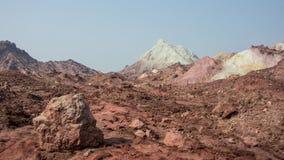 Верхняя часть покрашенной горы пустыни Стоковая Фотография RF