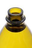 Верхняя часть раскрытой зеленой бутылки Стоковое фото RF