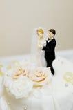 Верхняя часть свадебного пирога Стоковое Фото