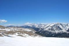 Верхняя часть скалистых гор Стоковая Фотография