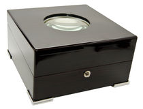 верхняя часть стекла черного ящика Стоковое Изображение RF