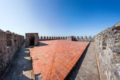Верхняя часть сторожевой башни Castelo de Vide Castelo de Vide Замка Стоковая Фотография