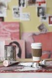 верхняя часть таблицы кофейной чашки Стоковое фото RF
