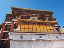 верхняя часть Тибета potala дворца lhasa стоковая фотография