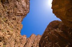 Верхняя часть ущелья Todra, Марокко Стоковое Изображение