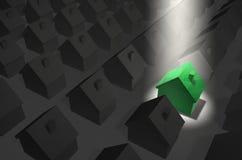верхняя часть фары зеленой дома Стоковые Фото